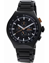 Montres De Luxe Men's 50 MM BLACK 50-mm Aluminum Chrono Tachymeter Watch
