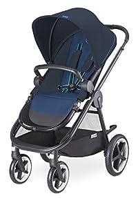 Cybex Balios M - Silla de paseo con capazo, desde el nacimiento hasta 17 kg, color azul marino de Cybex