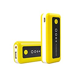 [20 packs]5600mAh Portable Power Bank, DC5V/1A External Mobile Battery Charger Pack for iPhone, iPad, iPod, Samsung Devices, Cell Phones, Tablet PCs(yellow-black)