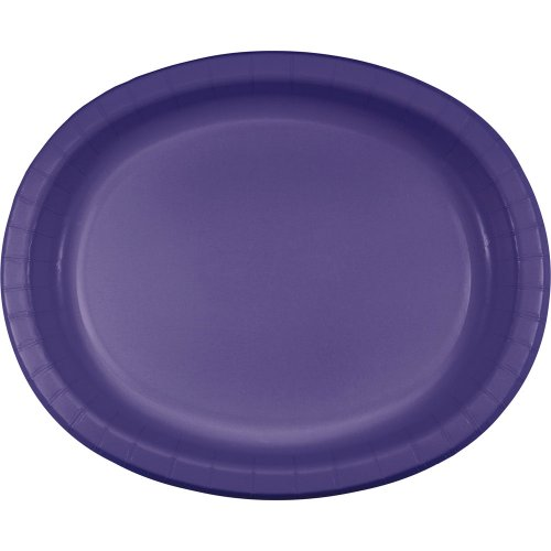 "Oval Platter 10""X12"" 8/Pkg-Purple"