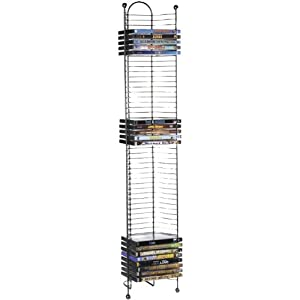 Atlantic 63712035 Nestable 52 DVD/BluRay Games Tower - Gunmetal