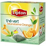 Lipton Thé vert Mandarine Orange 20 sachets - Lot de 3
