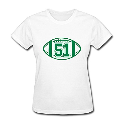 100% Cotton Vintage 51 Football Tees For Lady - Round Neck front-692627