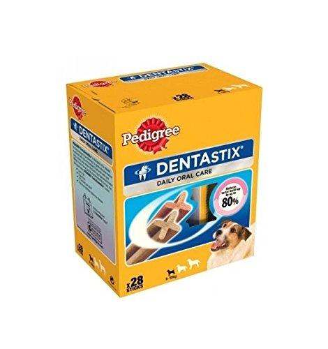 Pedigree DentaStix Mini - Snack per l'igiene orale per cuccioli e cani di taglia piccola (28)