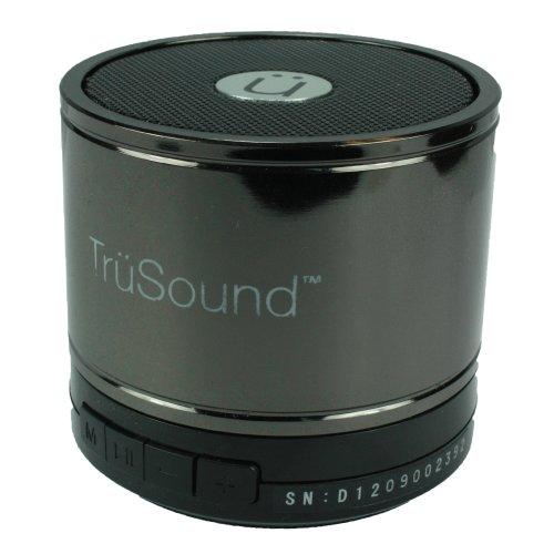 Trusound Hi-Fi Bluetooth Mini Subwoofer Speaker, Gun Metal