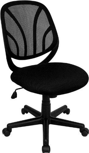 Flash Furniture GO-WY-05-GG Y-GO Chair and Trade, Mid-Back Black Mesh Computer Task Chair