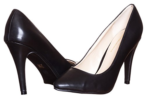 Italia Womens Designer Shoes Anita Pumps - Black Size 7.5