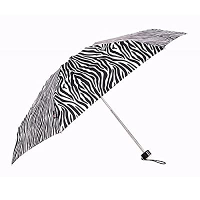 Christmas & New Year Gift, Rain-Way 5-Section Zebra Print Umbrella, Anti-UV Umbrella, Foldable, Gift Idea