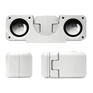Portable Folding Speakers for iPods & MP3 Players - White (discontinued by manufacturer)