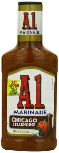 A.1. Steak House Marinade, Chicago, 16-Ounce Bottles (Pack of 6)