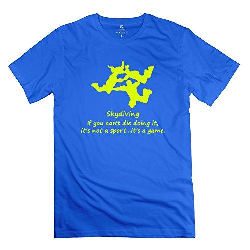 Design Skydiving T Shirts For Man 100% Cotton O-Neck Royalblue