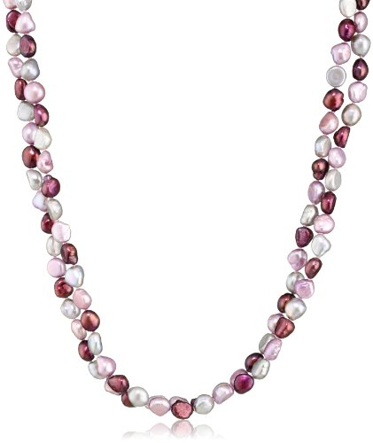 TARA Pearls Multi-Color Freshwater 8x9mm Baroque Pearl Strand Necklace