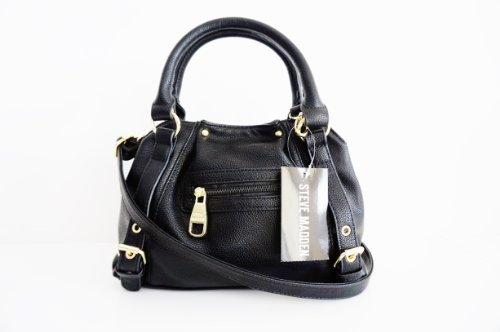 STEVE MADDENSteve Madden Mini Black Crossbody Faux Leather Handbag