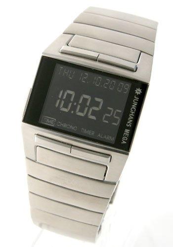 [ユンハンス]JUNGHANS 腕時計 メガ1000 電波時計 デジタル クロノグラフ ブラック026/4512.44 026/4512.44 メンズ [並行輸入品]