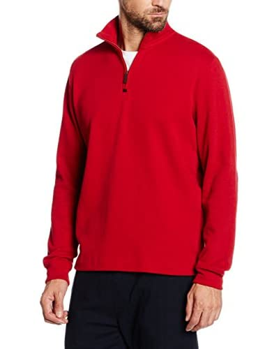 Cortefiel Pullover rot