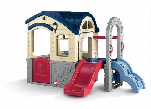 Kids outdoor playhouse pretend play fun - Maison de jardin little tikes colombes ...