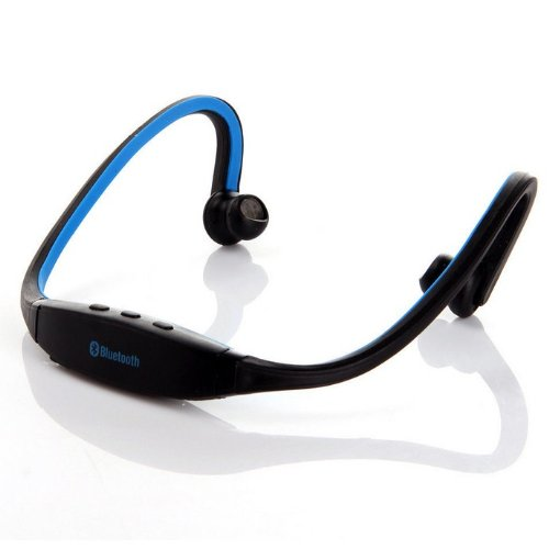 Storm-Buy Wireless Bluetooth Sport Stereo Handfree Headset Headphone Earphone For Or Iphone, Ipad, Htc, Lg,Samsung, Smartphone And Laptop Pc[Behind-The-Neck] (Blue)