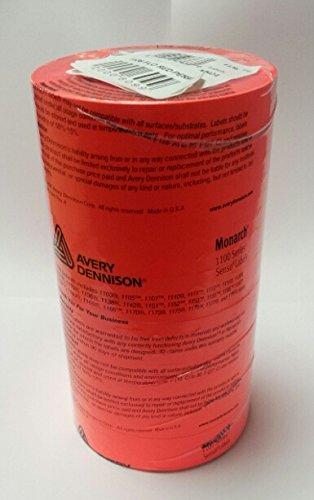 Monarch 1131 prix Gun étiquettes - 20 000 étiquettes Rouge fluo-pelable 8 Bobines