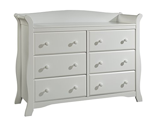 Read About Stork Craft Avalon 6 Drawer Universal Dresser, White