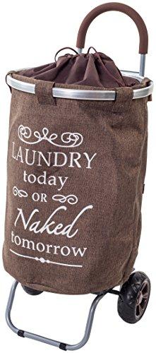 laundry-trolley-dolly-brown-laundry-bag-hamper-basket