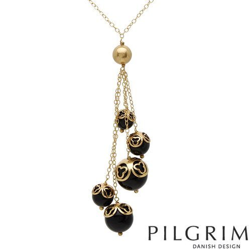 PILGRIM Skanderborg, Denmark Simulated Gems Ladies Necklace. Total Item weight 26.8 g.
