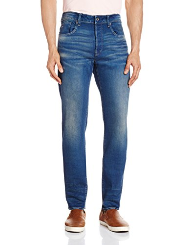 G-STAR - 3301 Slim - Firro Denim, Jeans da uomo, Blu (Medium Aged 071), 30W x 34L