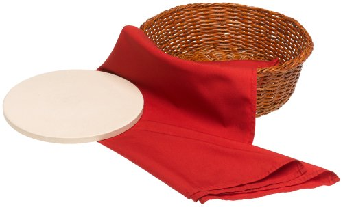 Bialetti 6953 Round Bread Basket With Warming Stone