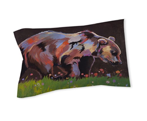 Thumbprintz Pillow Sham, King, Copper Bear