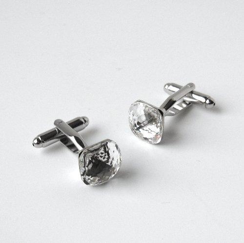 Clear Crystal Cufflinks