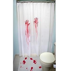 film d 39 horreur de rideau de douche et tapis de bain cuisine maison. Black Bedroom Furniture Sets. Home Design Ideas