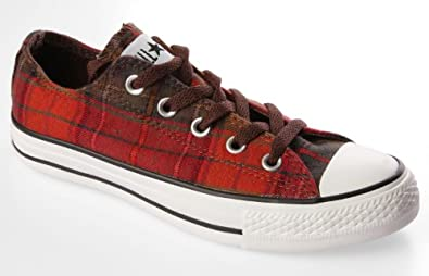 Converse Chuck Taylor Chestnut and Brown Plaid Shoes (9)