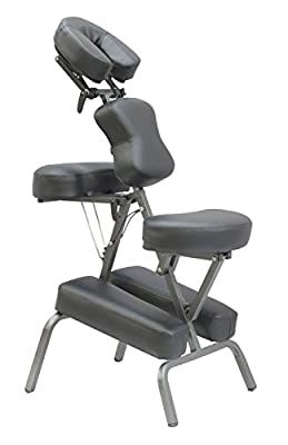 "Exacme 4"" Portable Massage Chair Tattoo Spa Free Carry Case Aluminum Cradle"