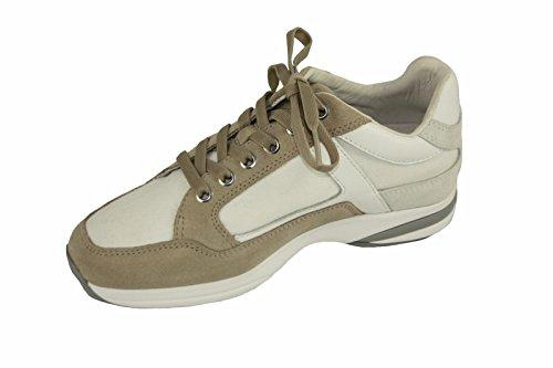 Sneaker Donna Samsonite SFW101016 Bianco Beige Stringate Tessuto Numero 35
