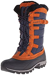 Kamik Women\'s Snowvalley Insulated Winter Boot, Navy, 8 M US