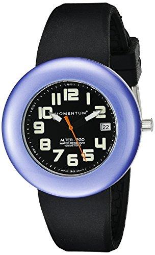 Momentum Alter Ego 1M-SP99BP1B - Reloj analógico de cuarzo para mujer, correa de silicona color negro