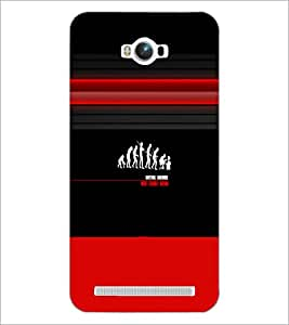PrintDhaba Evolution D-5636 Back Case Cover for ASUS ZENFONE MAX ZC550KL (Multi-Coloured)