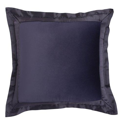 Modern Living Modern Living Tivoli Velvet And Satin European Square Sham, Purple, Polyester front-725748