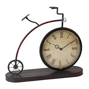 Old Fashioned Penny Farthing Bicycle Mantle Clock Gift