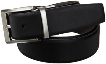 Calvin Klein Men's Smooth Leather Reversible Belt, Black/Brown, 32