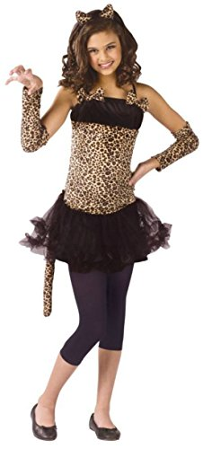 Girls Wild Cat Kids Child Fancy Dress Party Halloween Costume