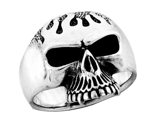 Stainless Steel Skull Ring (Available in Sizes 10 to 14) size11
