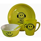Smile Pack Of 4 Dinner Set (Plastic)
