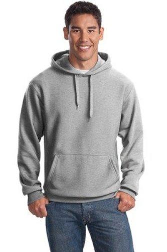 Sport-Tek Super Heavyweight Pullover Hooded Sweatshirt, Athletic Heather, Small front-83313