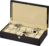Auer Accessories Leda 312B Watch Box for 12 Watches Piano polish