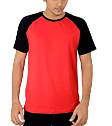 Younsters Choice Men's Cotton T-Shirt (YC-5812_Red_Large)