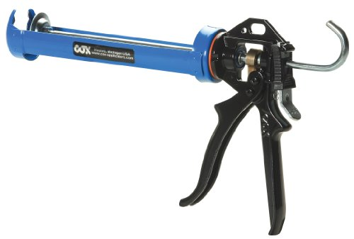 Cox 41004 Chilton 10.3-Ounce Cartridge Rotating Cradle Manual Caulk Gun,  6-Pack