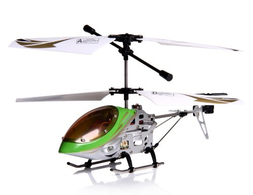 PF 3-Channel RC Helicopter with Gyroscope (Green)