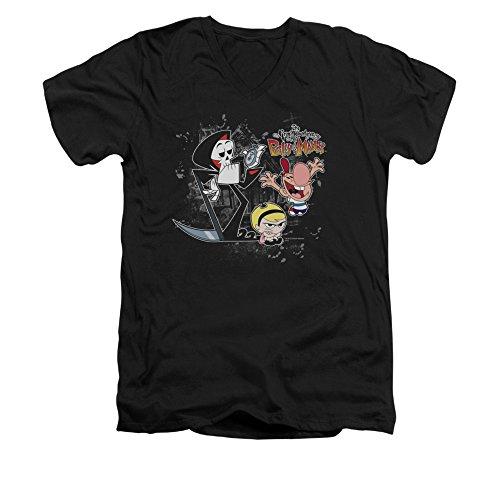 Grim Adventures Of Billy & Mandy Cn Tv Series Splatter Cast Adult V-Neck T-Shirt