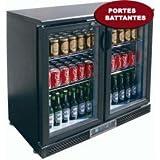 Frigo-de-bar-professionnel-3-portes-vitres-coulissantes-335-litres-250w-230v-neuf-equipementpro