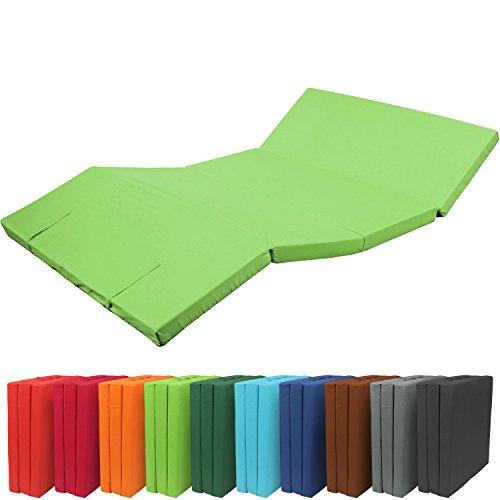 Materassino futon pieghevole 195x120x7cm XXL - confortevole materasso ospiti microfibra - comodo e versatile - verde